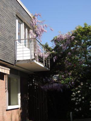Gartenansicht Balkon des Elternschlafzimmers