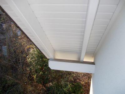 Dachüberstand als Wetterschutz