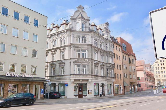 Top Denkmalgeschütztes Wohn- und Geschäftshaus in brillanter City Lage