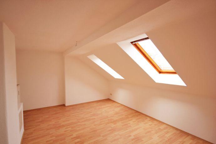 Blick über die Dächer von Meißen, helle Dachgeschosswohnung