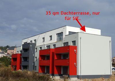 barrierefreie penthouse wohnung 3 zimmer inkl 35 qm dachterrasse stellplatz erstbezug. Black Bedroom Furniture Sets. Home Design Ideas