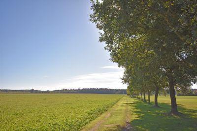 Blick über Wiesen, Felder und Wälder nahe KUGLER26