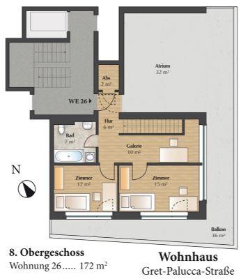 Grundriss Wohnung 26 - 8.OG