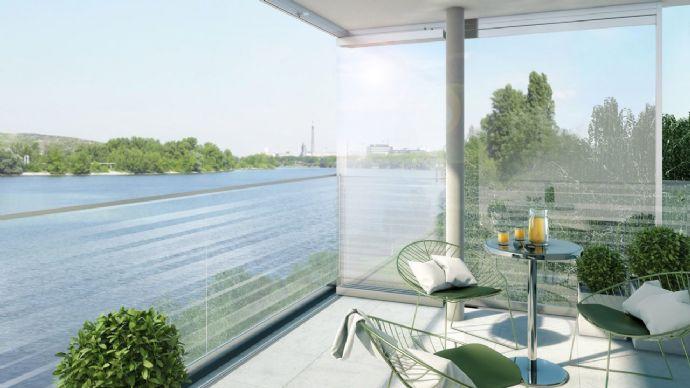 Erstbezug - Stilvolle Penthouse-Wohnung. Wohnen am Wasser.