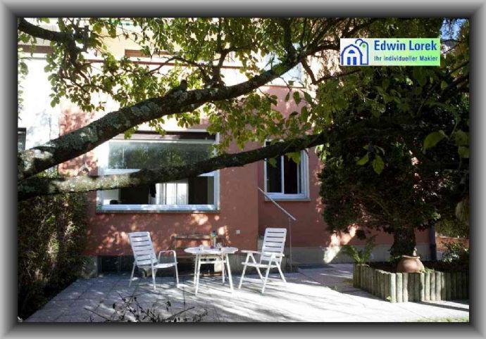 Eschersheim - Erdgeschoss, ruhige und helle 3-Zimmer-Wohnung, große Terrasse, EBK, Duschbad, sep. WC
