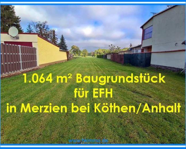 Baugrundstück für EFH in Merzien