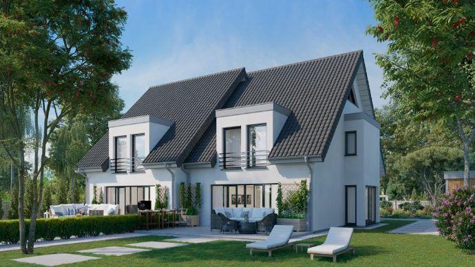 Wir bauen Ihre individuell geplante Doppelhaushälfte Stein auf Stein in Gütersloh-Spexard