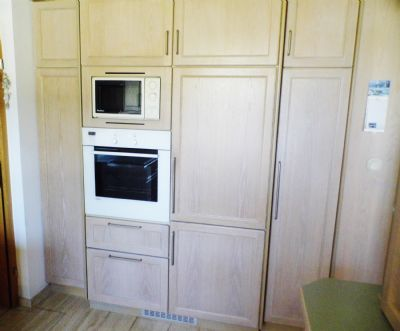 Backofen und Mikrowelle in der EG-Küche