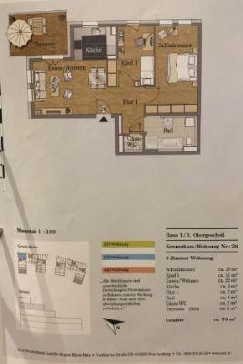 Helle 3 Zimmer Wohnung im 3 OG., 76 qm und großer Terrasse mit tollem Ausblick in 63225 Langen.