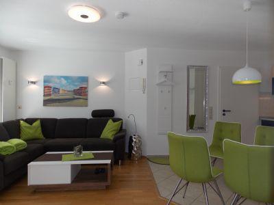 Whg Dwarslooper im Hus Strandloperke - Helle Erdgeschoss-Oase mit geschützter Sonnenterrasse