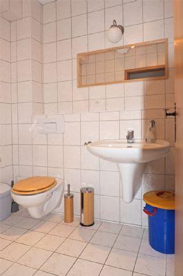 Toilette im Kellerbereich