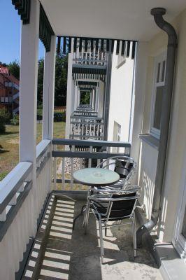 Balkon einer 2-Raumwohnung