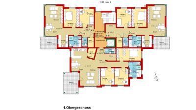1. Obergeschoss Haus B