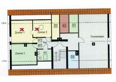 Grundriss DG (Zimmer 1+2)