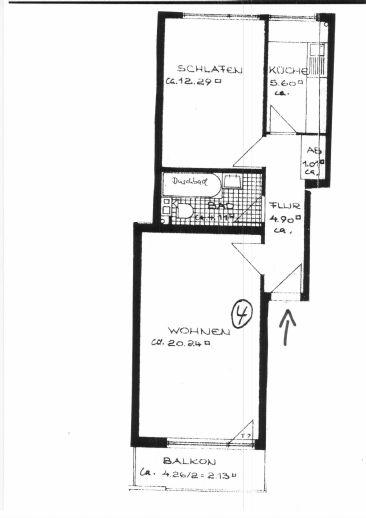 2-Zimmer-Wohnung in der Neustadt