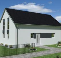 modernes KfW 55 Massivhaus mit 6 Zimmern