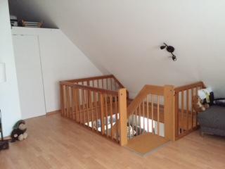 Treppenabgang vom Schlafzimmer zum Wohnraum