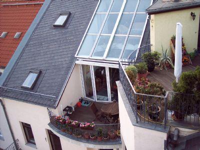 Dachterrasse und großer Balkon