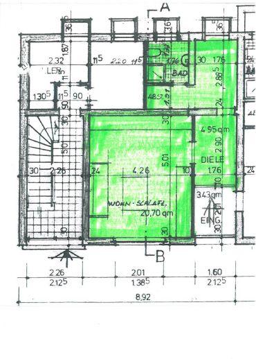 1- Zimmerwohnung in ruhiger Wohnlage, provisionsfrei!