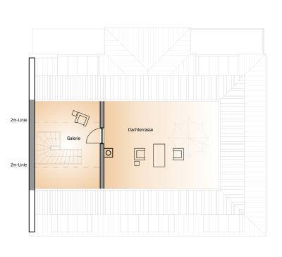Grundriss obere Ebene - Küchenzeileneinbau möglich