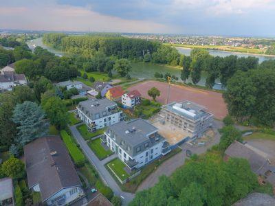 Luftaufnahme, Haus 3 vorne in Rheinlage
