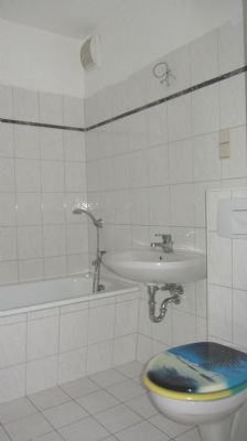 innenliegendes Bad mit Badewanne u. WM-Anschluss