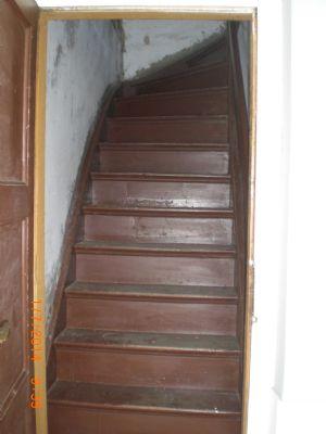 Treppe zum Speicher