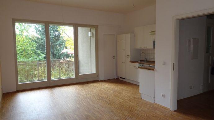 Moderne wohnzimmer mit offener küche  Moderne großzügige offene Wohnung mit EBK, Fußbodenheizung und ...