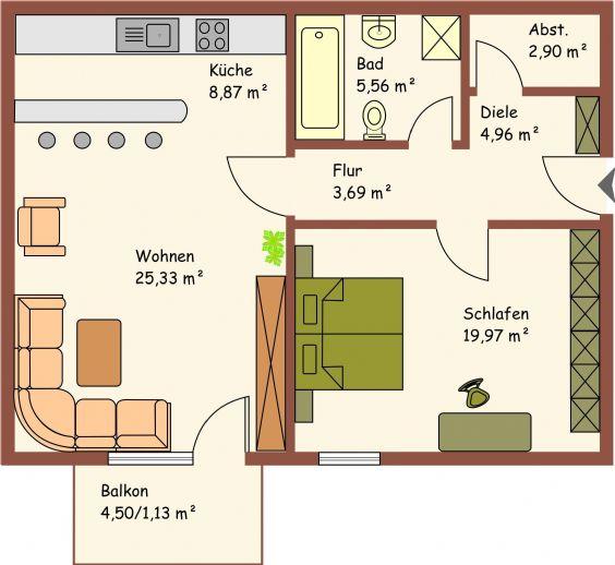 gro z gige 2 zimmerwohnung borna 34eb8b80. Black Bedroom Furniture Sets. Home Design Ideas