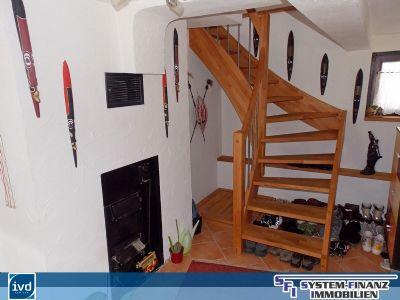 Detailansicht Flur mit Treppe