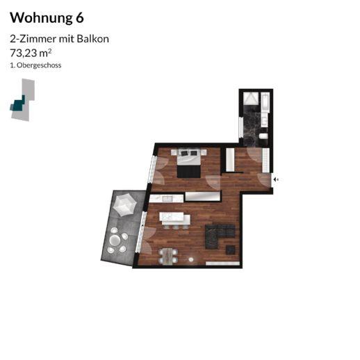 Große 2 Zimmer Wohnung mit tollem Balkon - Neubau
