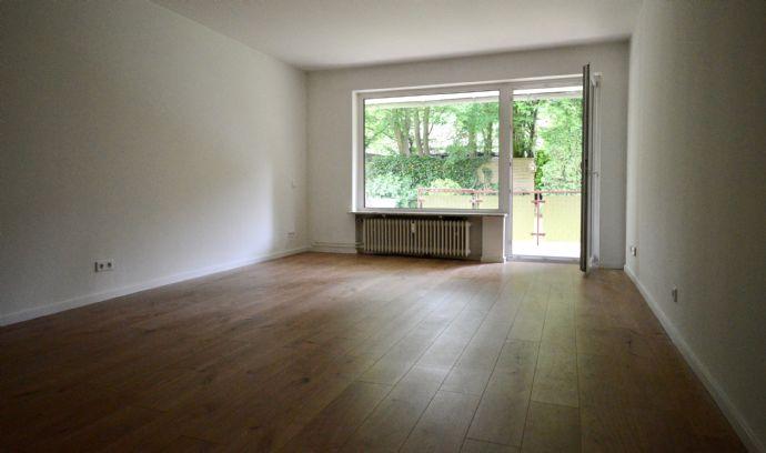 Feines Wellingsbüttel: moderne 2-Zimmer-Wohnung mit Garage und Balkon!