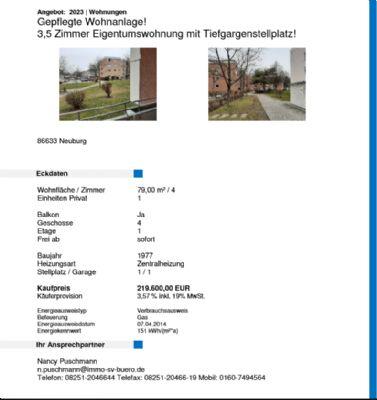 Neuburg an der Donau Wohnungen, Neuburg an der Donau Wohnung kaufen