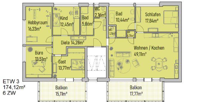 Große Wohnung mit Südbalkon - nach Ihren Wünschen
