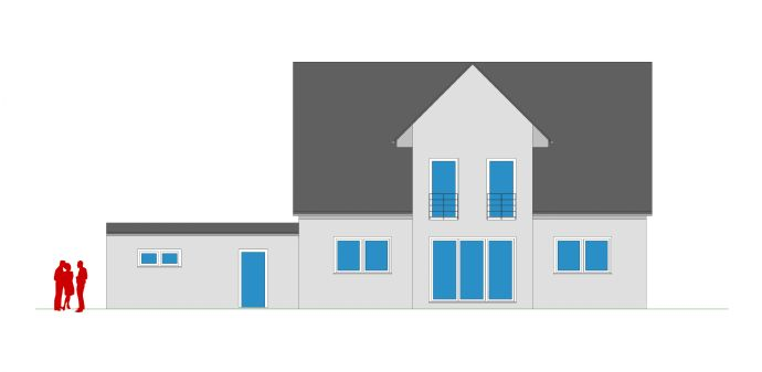 Ihr Einfamilienhaus mit Kapitänsgiebel und Garagenkomplex
