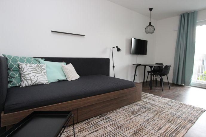 möbliertes 1-Zimmer-Apartment mit Balkon