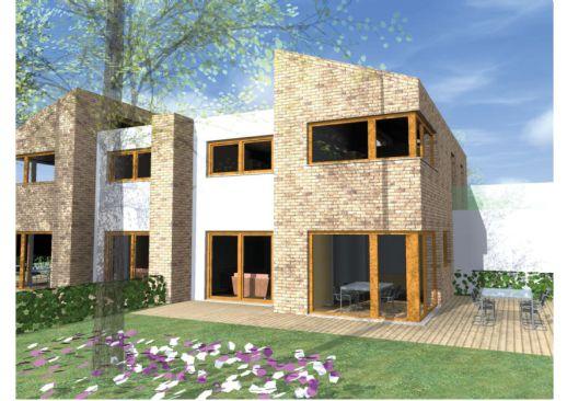 **Großzügige Öko-Neubau Doppelhäuser und Einzelhäuser, ca.130 bis 150 m² mit Garage**