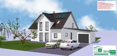 Haus 1 Süd-Ost Garage mit Pultdach