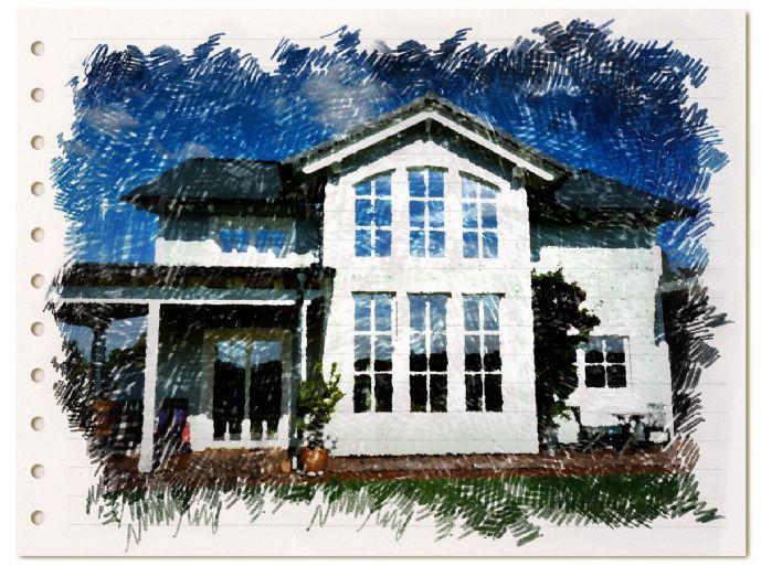 Villa im New England-Stil projektiert im KfW40-Standard, auf großzügigem Grundstück mit Südhang-Lage!