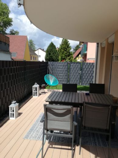 3-Zimmer-Erdgeschosswohnung mit 2 Terrassen und eigenem Gartenanteil in Top Lage im Zentrum von Bad Krozingen