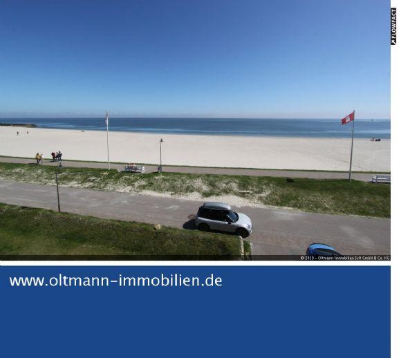 Einmaliger Meerblick - Großzügige Wohnung mit Balkon direkt am Meer