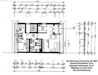 Schöne, helle 2,5-Raum-DG-Wohnung mit Einbauküche im 2. OG eines 3 Parteienhauses, Ruhige Lage!, sucht neuen Mieter in Rödermark-Urberach