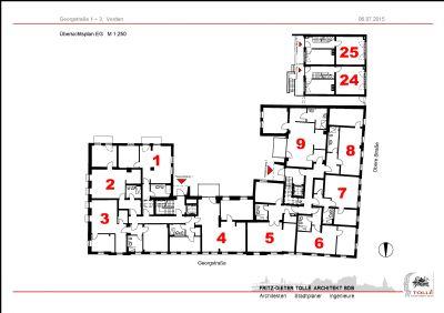 Wohnungsübersicht Erdgeschoss