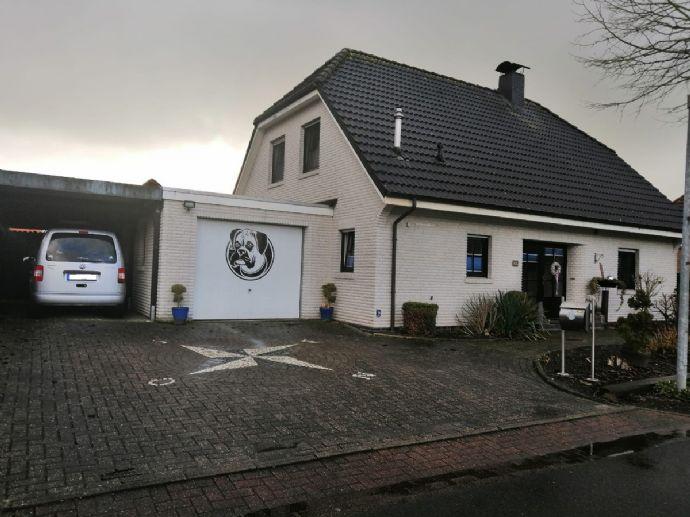 !!Gelegenheit!! Familienfreundliches Einfamilienhaus mit Garage, Carport, überd. Terrasse, Pool & Teich in ruhiger Wohnlage von Weener OT. Holthusen