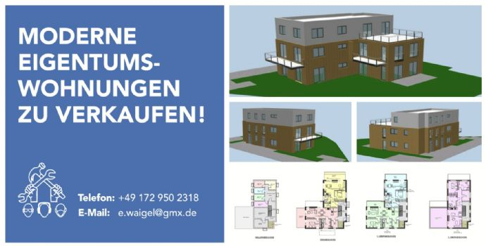 V PRIVAT Neubau-2 Zimmer-Wohnung Erdgeschoss