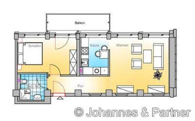 moderne und zentrale 2 Zimmer-Wohnung am Großen Garten