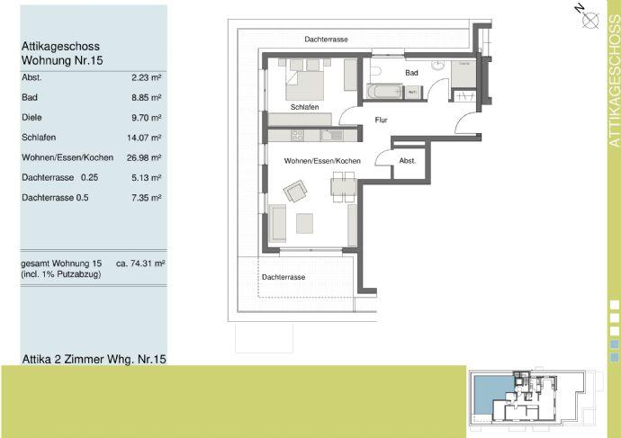 Penthouse Wohnung mit schönem Blick über Bad Krozingen *Baubeginn erfolgt*