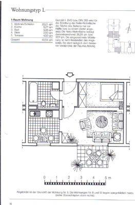 Schicke moderne 1-Zimmer-Erdgeschoß-Wohnung mit Terrasse ...