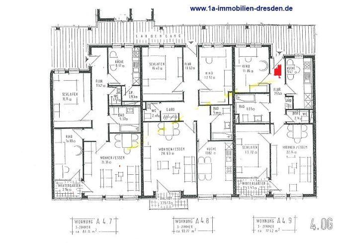 3 Zimmer Wohnung in Dresden (Löbtau-Nord)