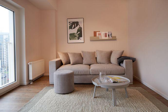 Möblierte 2-Zimmer Wohnung für Paare in top Lage in Frankfurt Niederrad